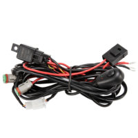 2 Way High Beam Wiring Loom Harness Relay Switch Kit 12V 40A Driving