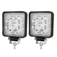 2x 4inch CREE LED Work Lights Flood Beam Square Fog Lamp Reverse Offroad 4WD