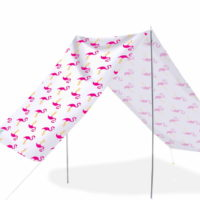 Good Vibes Summer Beach Tent Flamingo 148x370cm