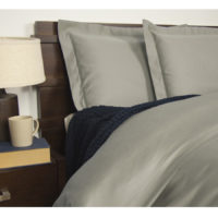 Queen Size 1900TC Cotton Rich Sheet Set (Grey Color)