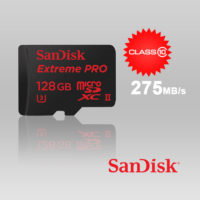 Sandisk Extreme Pro micro SDXC UHS-II 128GB Class 10 up to 275mb/s