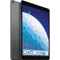 Apple iPad Air (2019) 10.5 MUUJ2 64GB WiFi with Tempered Glass Screen Protector and Folding Case (Black) - Space Gray (with 1 year official Apple Warranty)