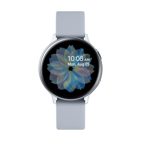 Samsung Galaxy Watch Active 2 R820 44mm Aluminum with Tempered Glass Screen Protector - Cloud Silver